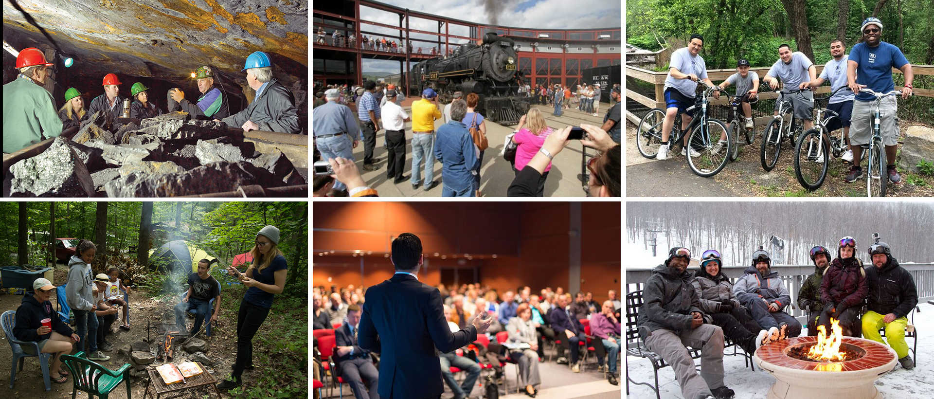 Multiple pics for groups doing various activities in Lackawanna County, PA.