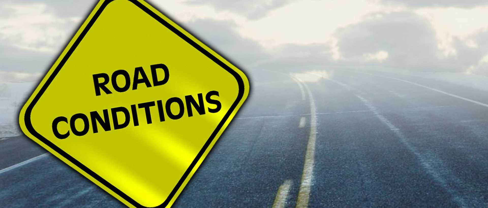 Picture of Road Conditions signs on road in Lackawanna County