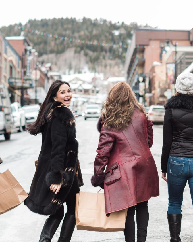 Women Shopping on Main Street