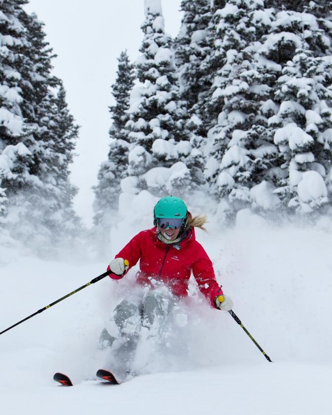 Female Powder Skier