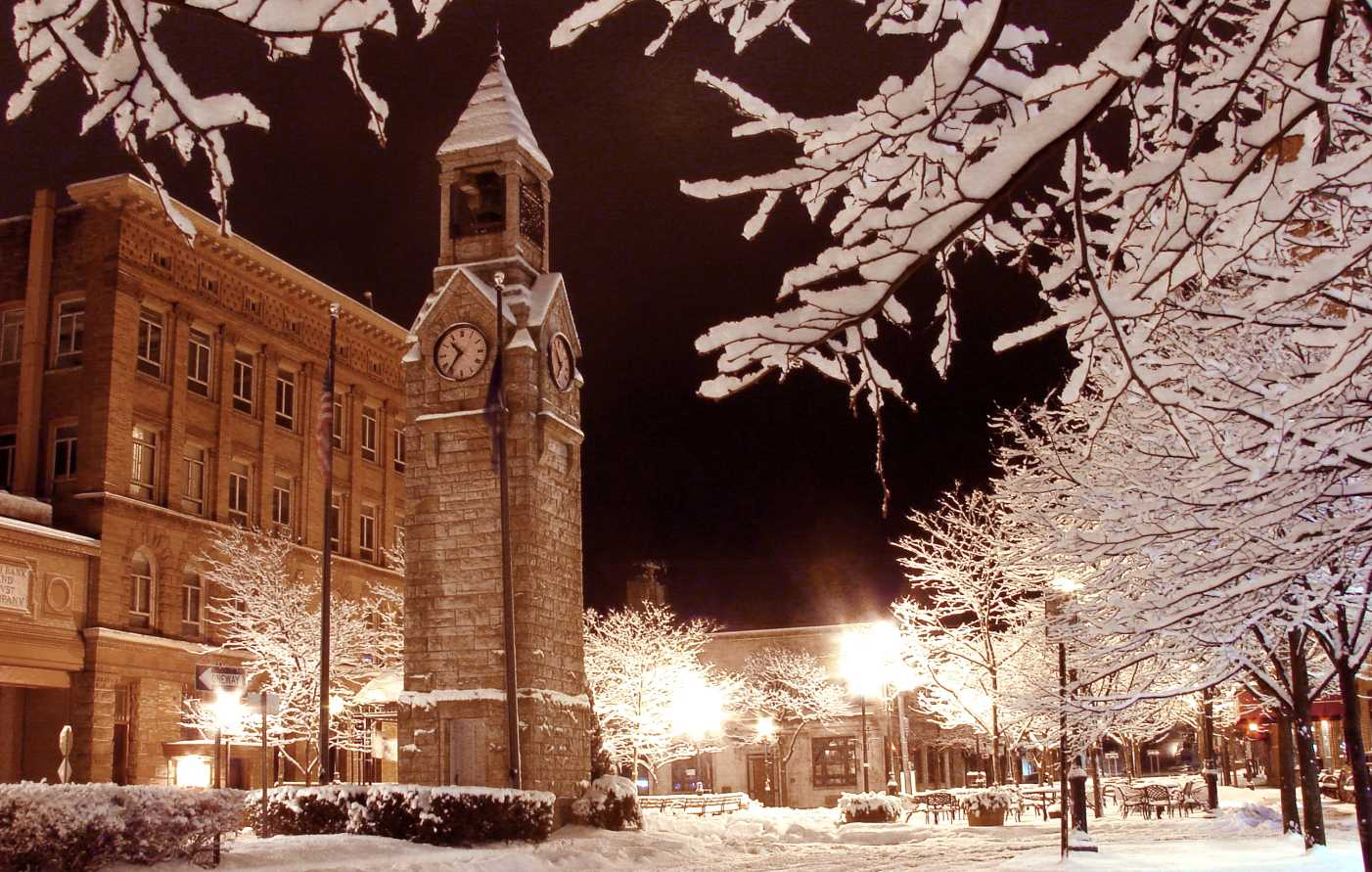 Corning Clocktower in Winter