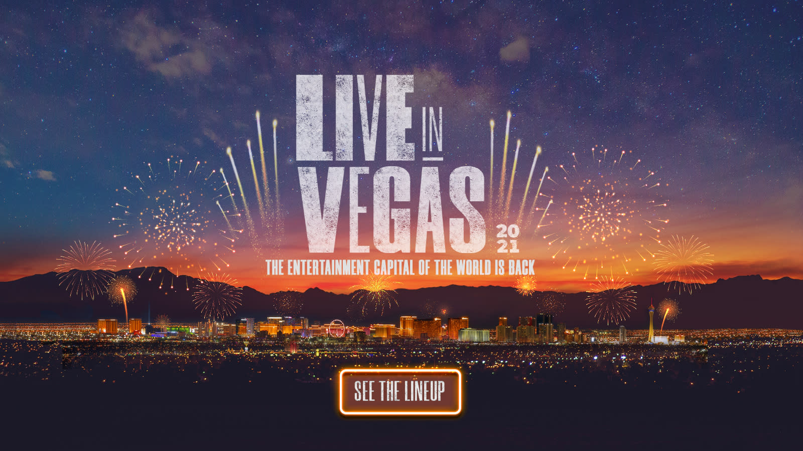 Live in Vegas Home Page Marquee Desktop