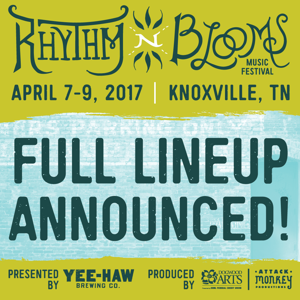 Rhythm N Blooms Music Festival Announces Full 2017 Festival Lineup