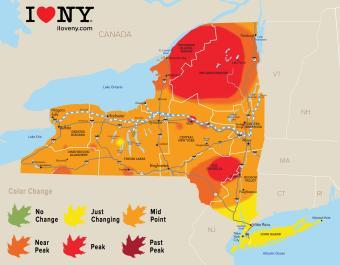 Fall Foliage Map Week 5-2018