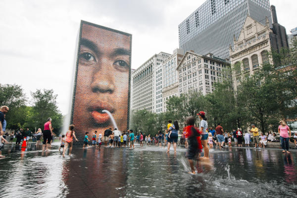 Crown Fountain Chicago in Millennium Park