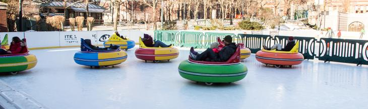 Ice Bumper Cars In Action At Alex Ani City Center