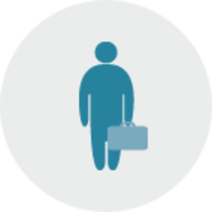 person holding briefcase graphic