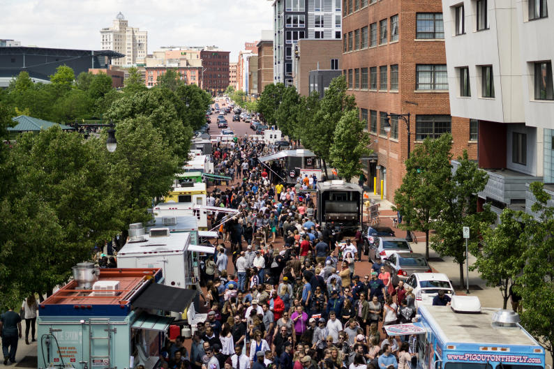 Roll'N Out Food Truck Festival is the largest food truck rally in Grand Rapids.