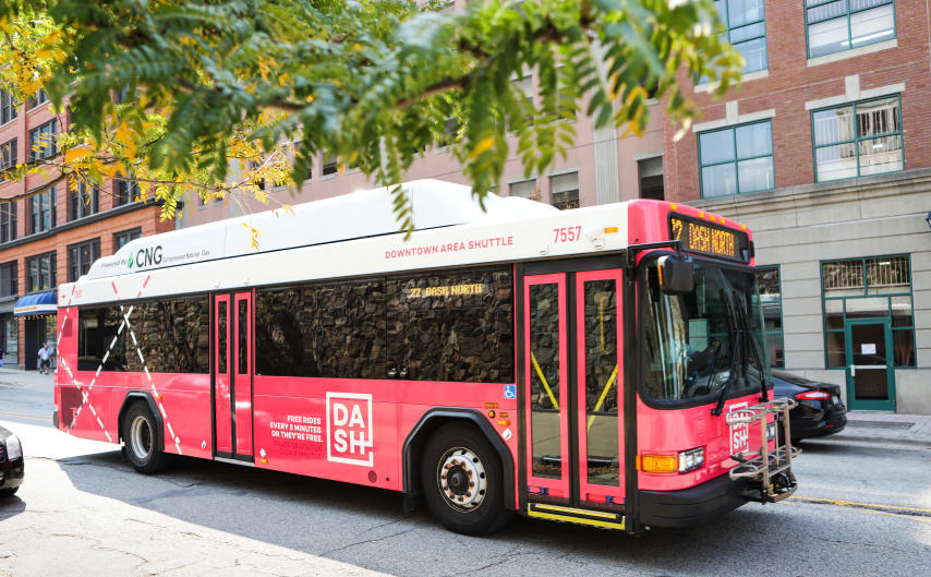 The Transit and myStop Mobile apps help make navigating the city on the DASH even easier.