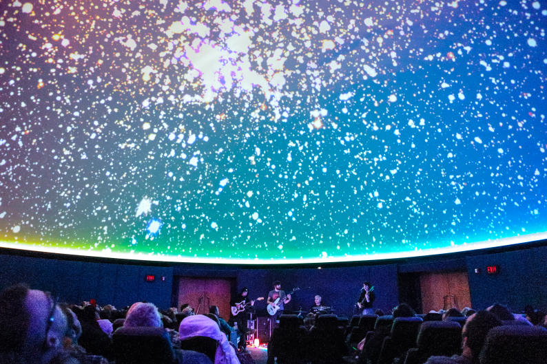 Fiona Dickinson and her band at the Grand Rapids Public Museum - Roger B. Chaffee Planetarium.