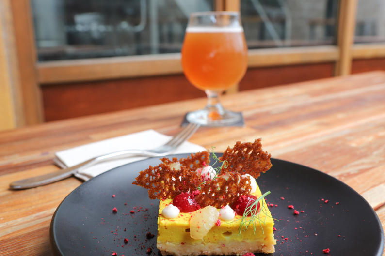 Brewery Vivant's Vegan Lemon Bar is worth the visit to the brewery, even if you're not ordering a craft beer to go with it.