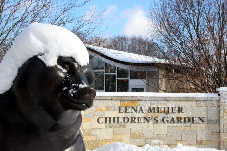 Frederik Meijer Gardens & Sculpture Park is a great place to bring kids even in the winter time.