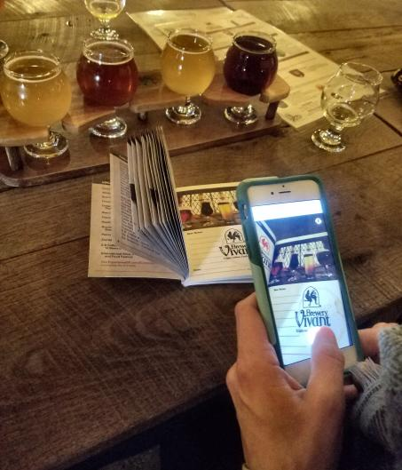 Converting paper Brewsader stamps with the Beer City Brewsader app.