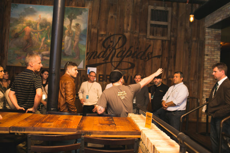 Beer tour at Grand Rapids Brewing Co