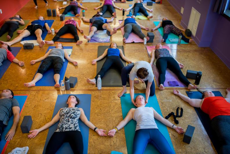 Yoga participants at Funky Buddha Yoga Hothouse