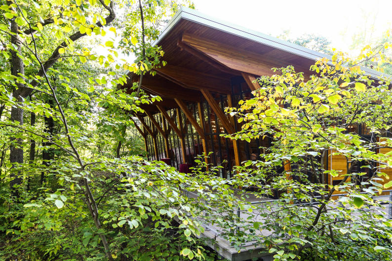 The Bissell Tree House can seat up to 180 guests.