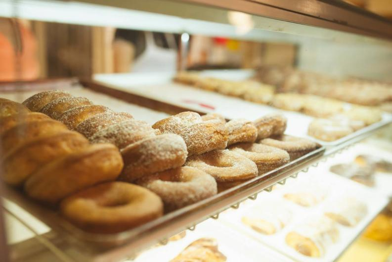 Make sure to grab a delicious apple cider donut when you visit Robinette's Apple Haus & Winery!
