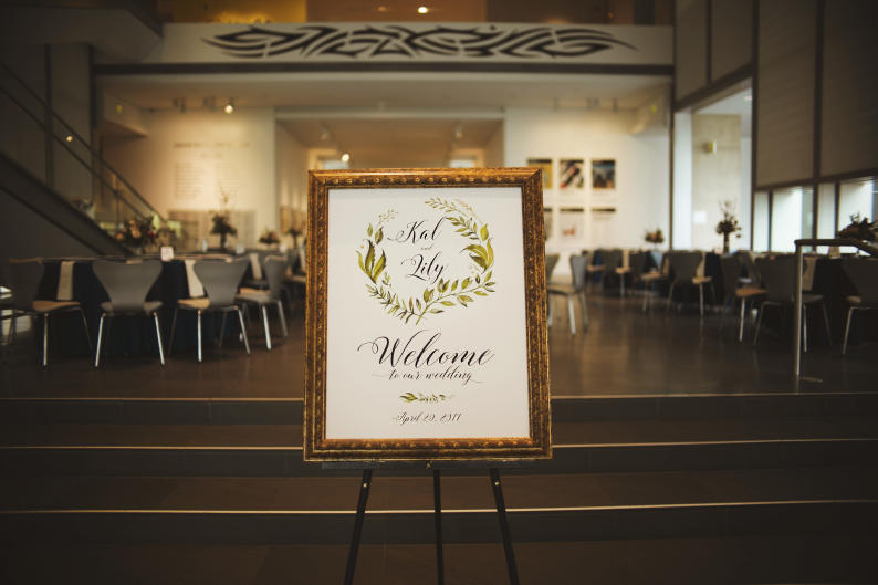 The Ramakrishnans chose the Grand Rapids Art Museum for their wedding and reception location.