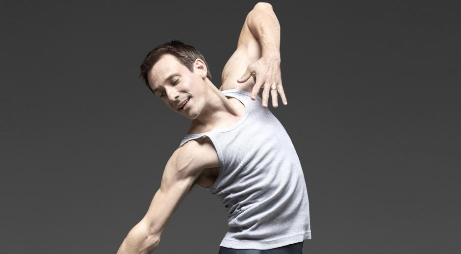 James Sofranko Grand Rapids Ballet's artistic director in a ballet pose