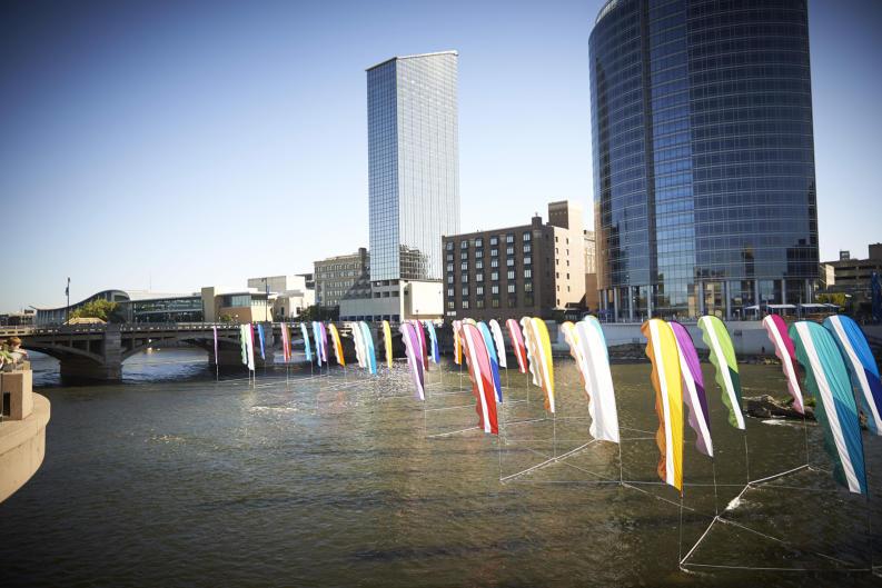 ArtPrize installation in Grand River