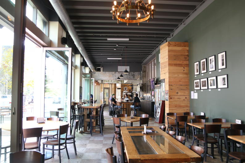 Located at the corner of Monroe and Michigan in the heart of downtown, Atwater Brewery is in a very walkable neighborhood.