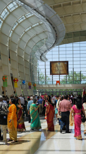 Participants of the Bruhan Maharashtra Mandal 2017 at the Grand Rapids convention center.