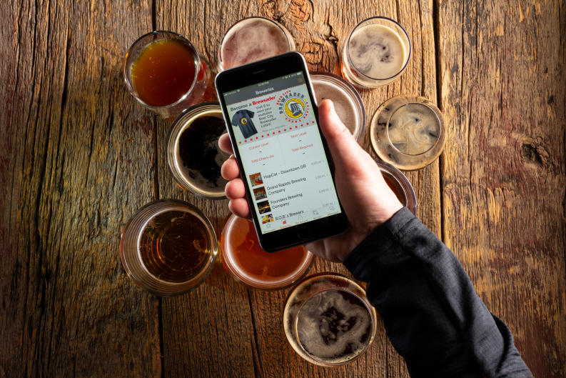 The Beer City Brewsader Passport mobile app