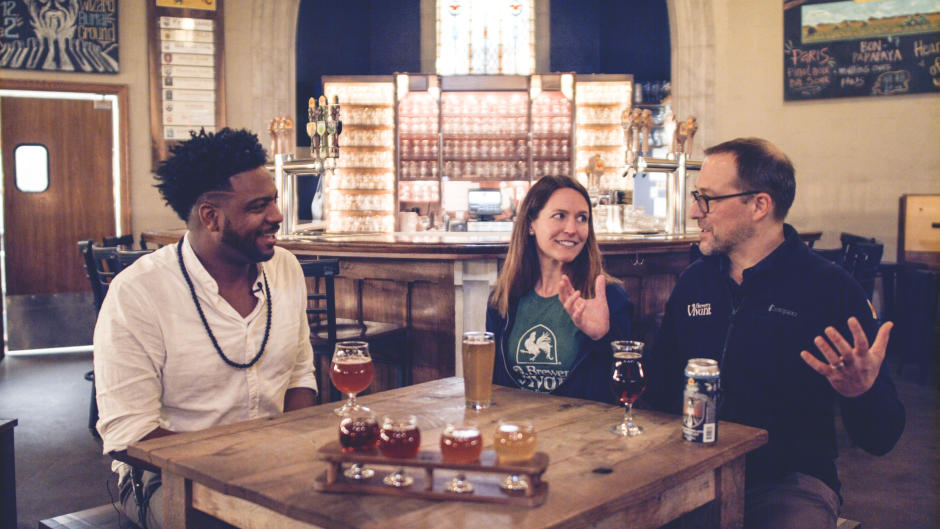 Brewery Vivant owners Kris and Jason Spalding discuss their passion for their craft: food and beer.