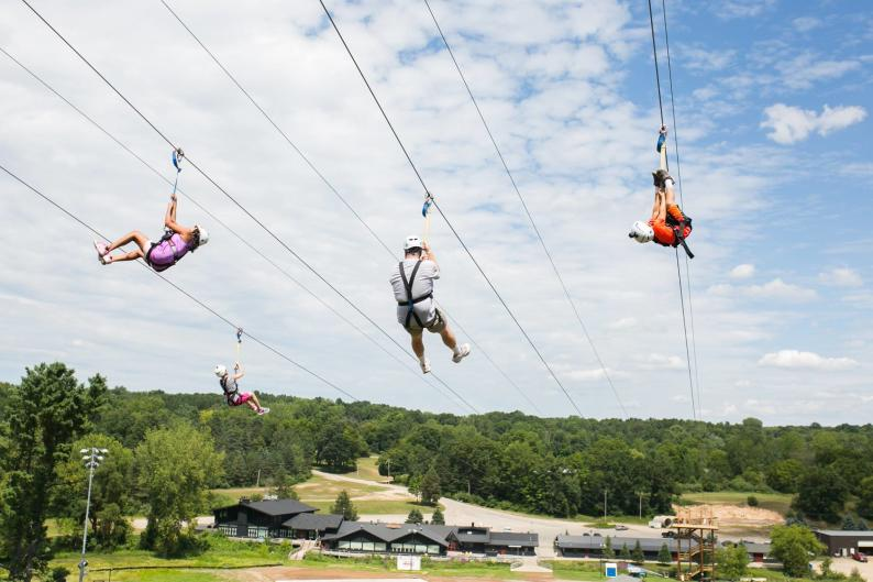 Cannonsburg's zip line provides summer fun for the whole family.