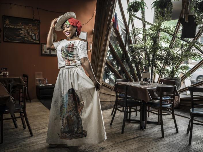 Owner/operator Olga Benoit in her restaurant, Chez Olga.