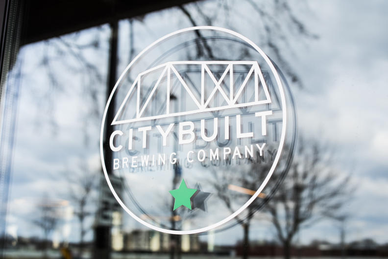 In addition to their craft beer, City Built Brewing Company's menu is inspired by Puerto Rican cuisine.