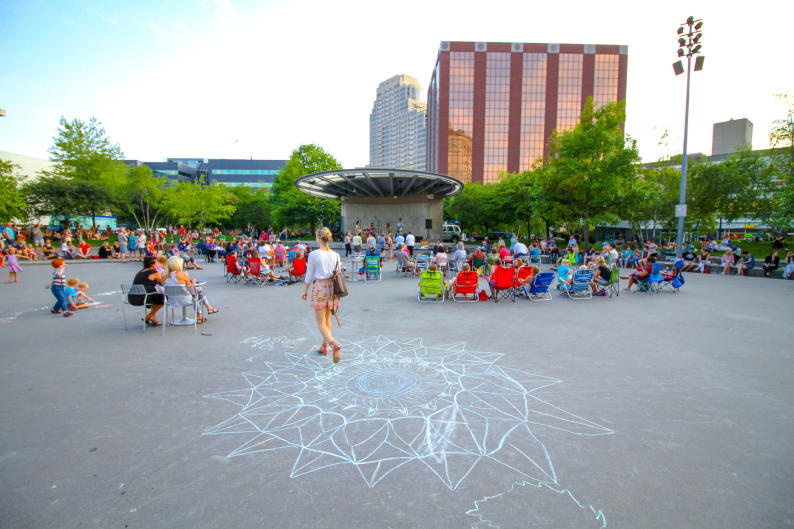 Located in the heart of Grand Rapids, GRAM on the Green takes place at the Grand Rapids Art Museum's Terrace.