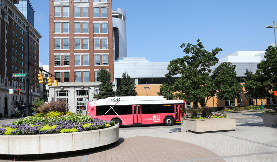 DASH bus in downtown Grand Rapids
