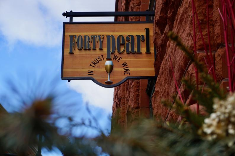 Besides offering a great tasting room, Forty Pearl also hosts wine and food education classes.