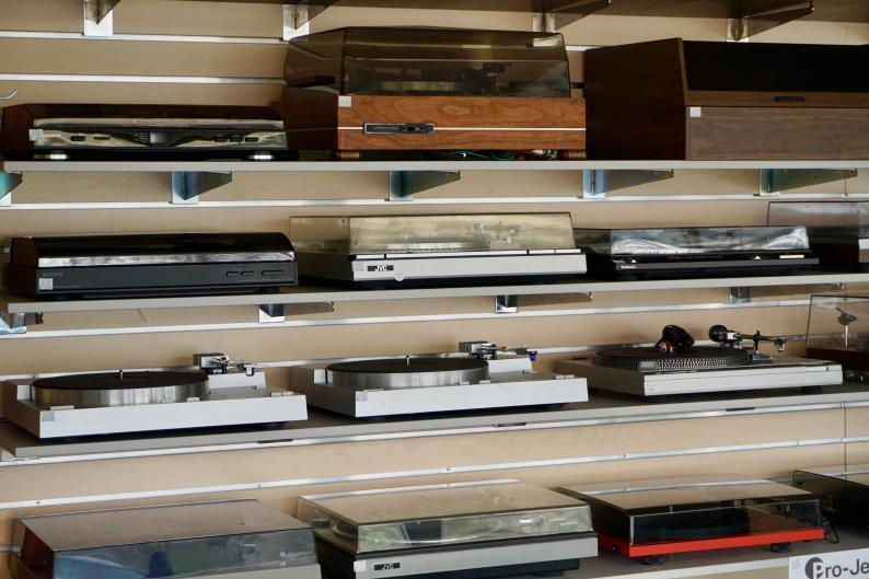 Equipment at Corner Record Shop