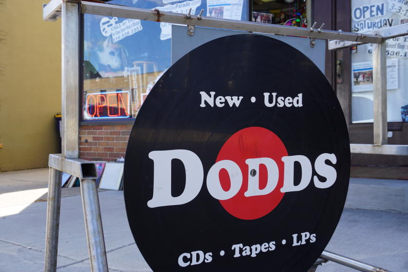 Dodds Record Shop exterior