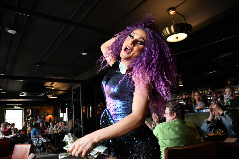 Originally planned as a seasonal event, Drag Brunch GR now has two shows every week due to its popularity.