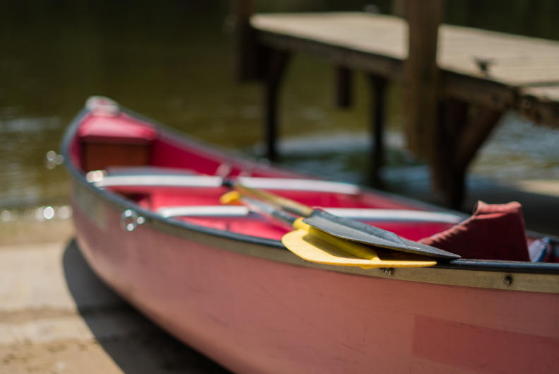 Most canoes can fit between 1-3 people.