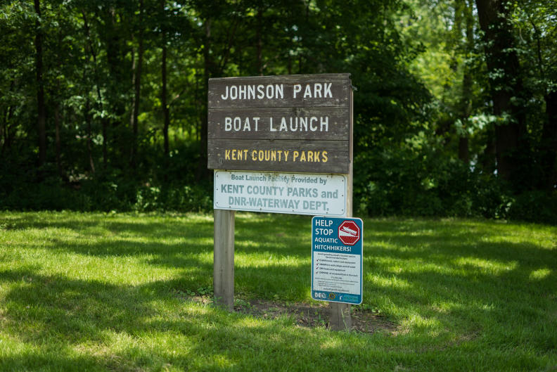 Johnson Park offers two boat launches off of the Grand River.