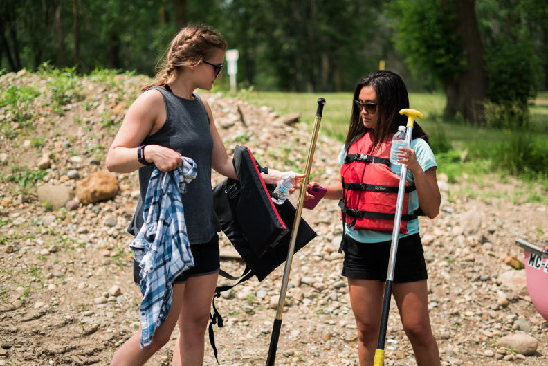 Proper safety gear and clothing is imperative for a safe canoeing trip.