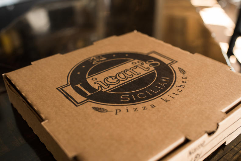 Grab a 'take-out' pizza at Licari's Sicilian Pizza Kitchen before heading to the Celadon Summer Concert Series.