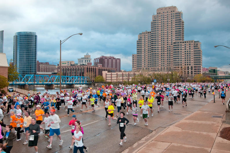 The Fifth Third River Bank Run is a Grand Rapids tradition.