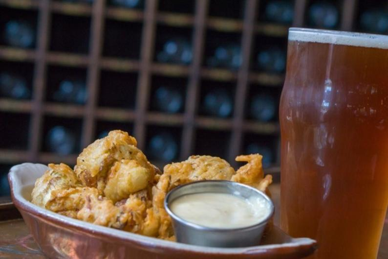 If you have a restricted diet, there are lots of options for you during RWGR, like these vegetarian fried artichokes from Grand Rapids Brewing Company.