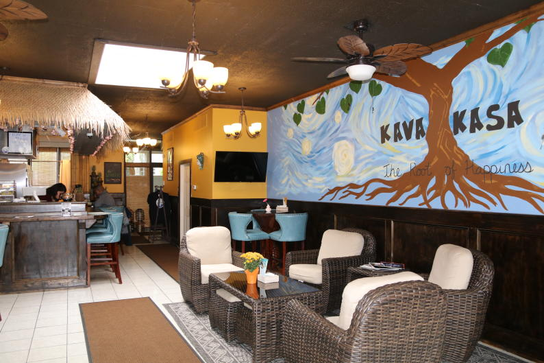 Kava Kasa's interior matches its island-type menu by paying homage to the South Pacific.