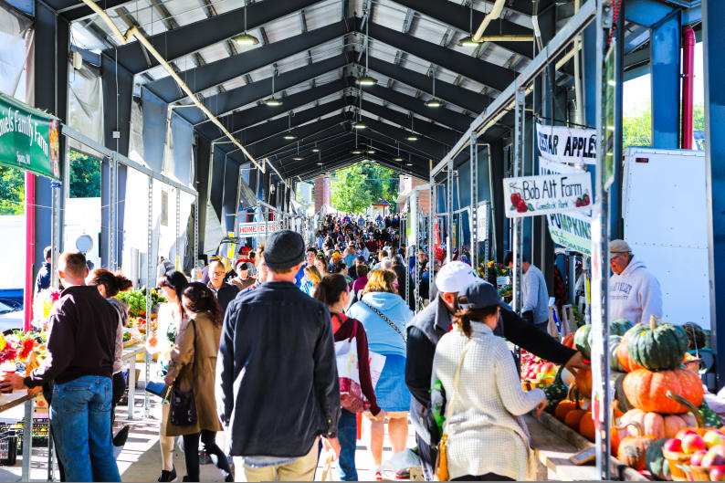 After breakfast, explore locally grown and made food and other artisan products at Fulton Street Farmers Market.