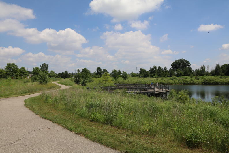 Kent Trails runs through Grandville perfect for hiking and biking.