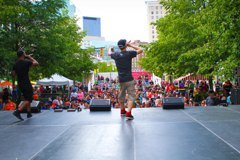 Find live performances throughout downtown Grand Rapids during the festival.