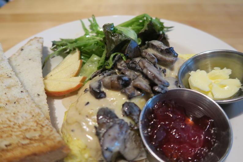 Terra GR mushroom omelette