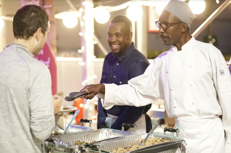 Pictured is owner, Vincent McIntosh and his father. Irie Kitchen offers catering as well as dine in/take out.