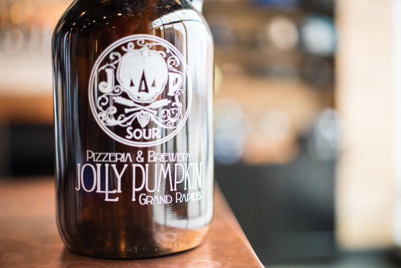 Besides its specialty pizzas, Jolly Pumpkin is known for its sour beers.